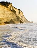Cliff at northwest coast of Corfu, Greece poster