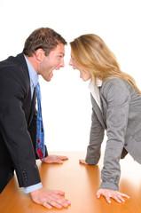 Geschäftsleute streiten sich
