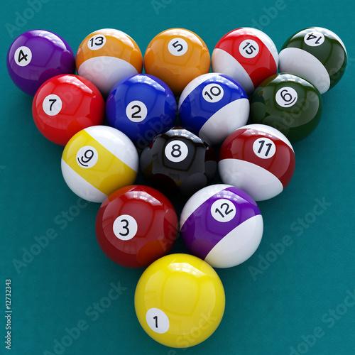 Staande foto pool balls
