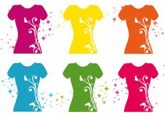 Woman's t-shirt vector illustration.