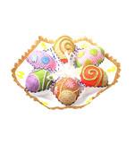 eater eggs handmade ornament poster