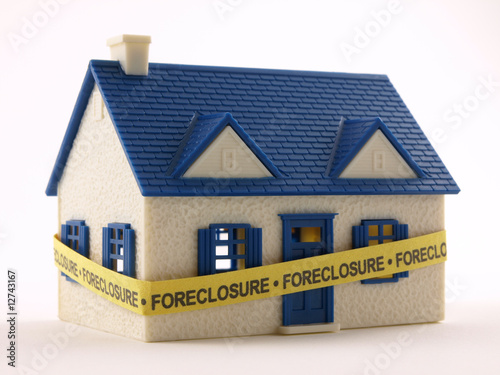 House with Foreclosure tape - 12743167