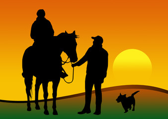 coppia con cavallo