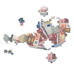 Austria euros Map jigsaw