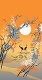 Négy évszak: ősz, a kínai hagyományos festészeti stílusban