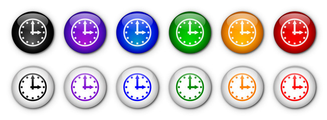 "Boutons ""Horloge"" (x12 - Multicolores)"