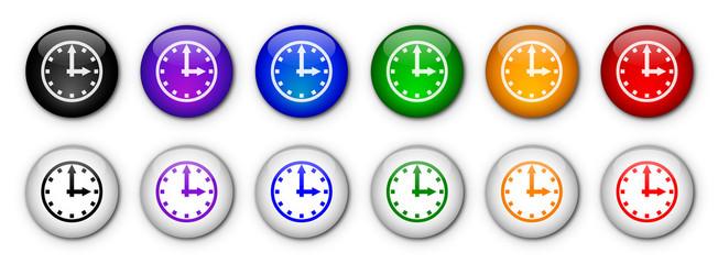 "Boutons ""Horloge"" (x12 - Multicolores)"