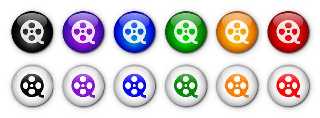 """Boutons """"Cinéma"""" (x12 - Multicolores)"""