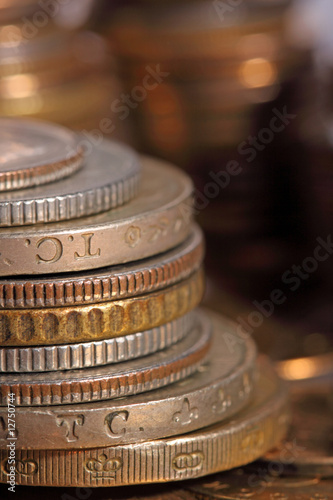 golden piles of coins