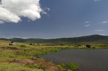 Lunch place in Ngorongoro Conservation Area