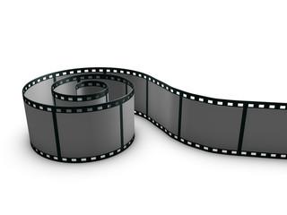 Filmrolle auf weissem hintergrund