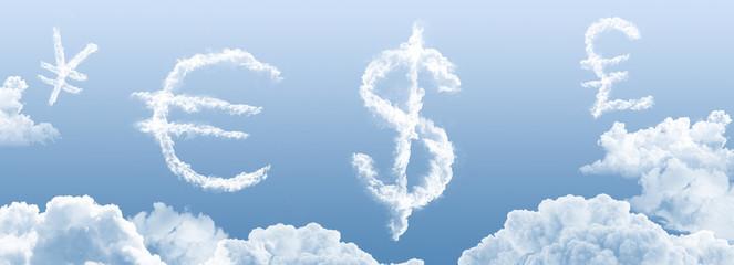 Wolken - Währungssymbole 3