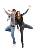 Fototapety Jeunes qui sautent