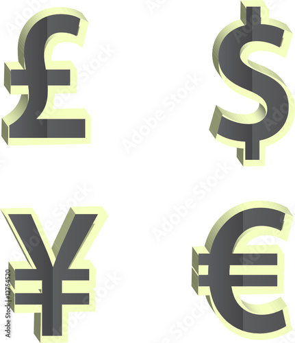 money vector icon set