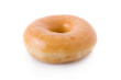 Doughnut or donut isolated on white background.