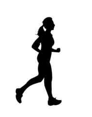 donna in corsa profilo