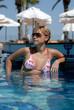 woman and pool