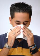 Joven resfriado