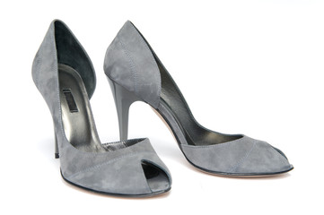 Pair of gray female shoes