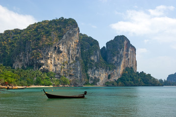 Carst cliffs of Railay beach