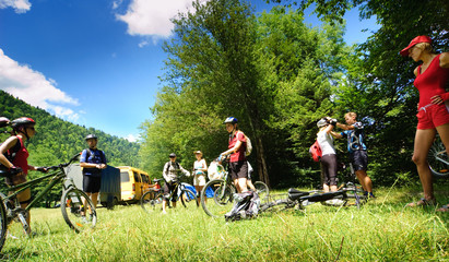 Groups of bicyclists