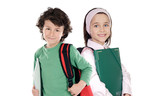 Two students returning to school poster