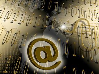 per E-mail um die goldene Welt