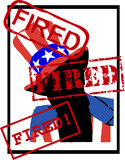 vector fired American Uncle Sam poster