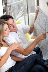 Couple with the newspaper