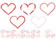 Verschiedene Herzen