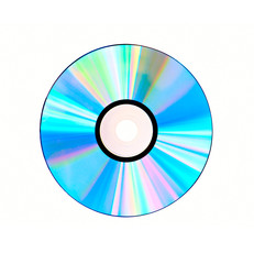 Compact disc isolated on white background