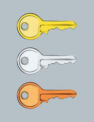 Keys (Gold, Silver and Bronze)