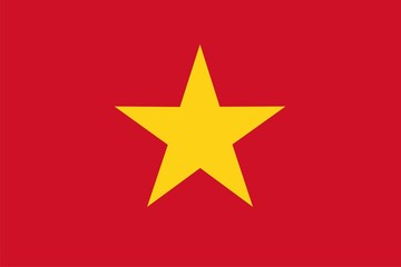 Vietnam national flag. Illustration on white background