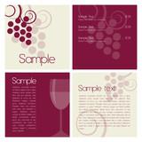 Wine brochure poster