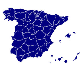 detailed vector map of spain
