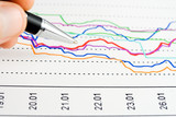 Stock exchange indices. poster
