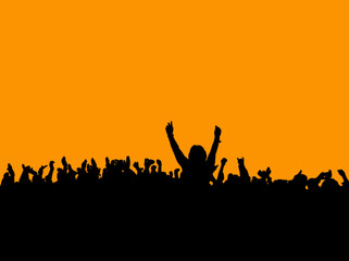 Silhouette eines Konzert-Publikums