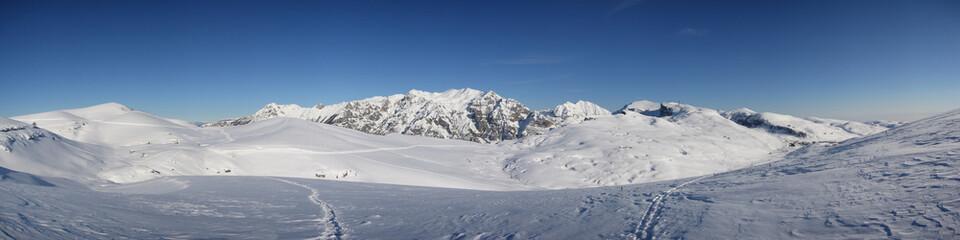 panorama del monte carega