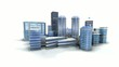 Ville 3D architecture perpspective macro FullHD