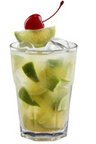Fresh lime cocktail and cherries