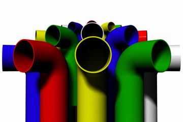 tubos de colores
