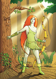 Elf female archer, a character from mythology, folklore legend poster