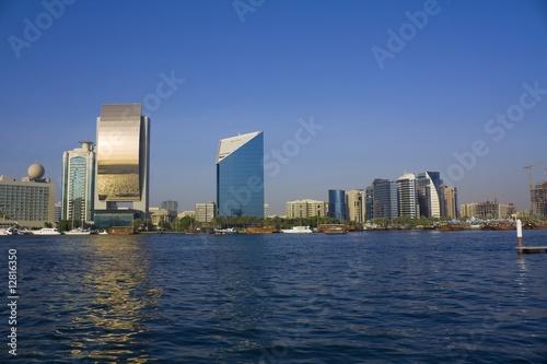 Fotobehang Dubai dubai creek buildings, united arab emirates