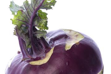 Purple Kohlrabi Macro