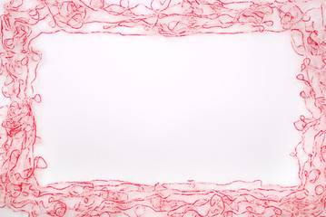 Frame. Threads  isolated on a white background