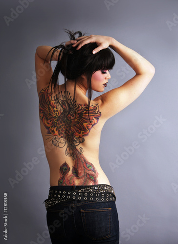 Beautiful tattooed woman