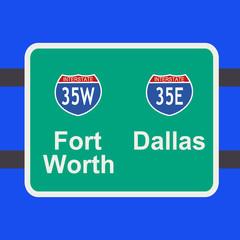freeway to Dallas sign