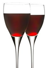 calici di vino rosso