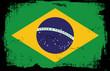 grunge flag - brasil