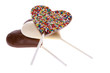 Chocolate Lollipops Isolated